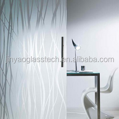 Beijing Acid etched decorative glass_Art glass_glass exterior wall panelling