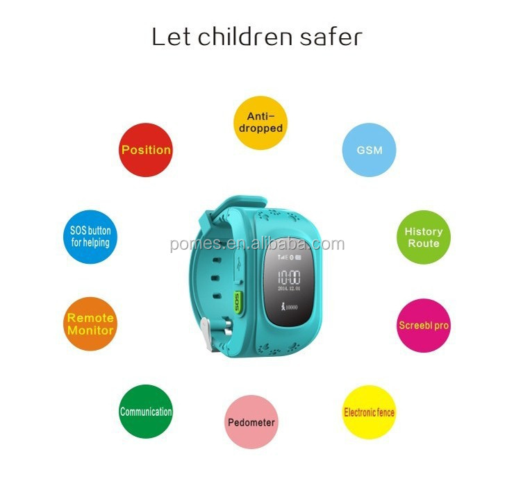 silicon wristband gps mobile phone sos kids watches tracker health monitor android smart watch