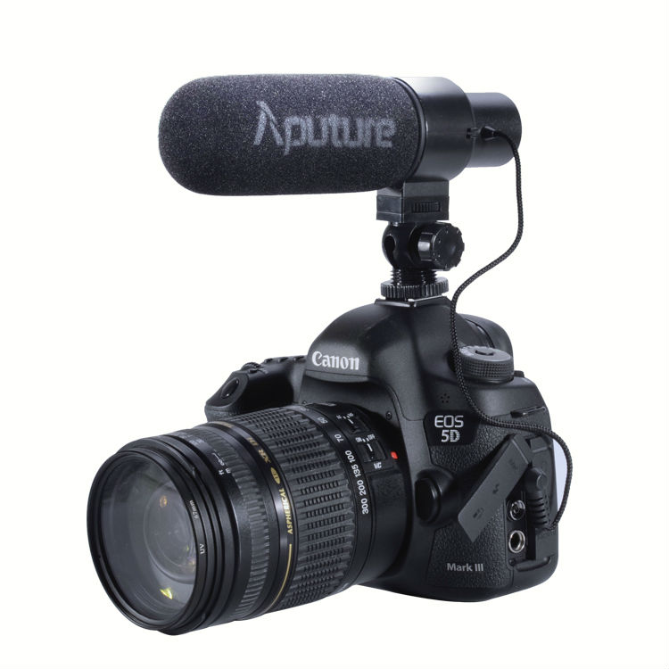 Aputure Professional Stereo On Camera Directional Microphone With Windscreen for video