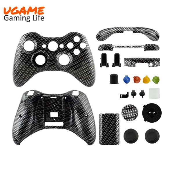 Ebay Hot Selling for Xbox 360 Wireless Controller Shell Canbon Fibre