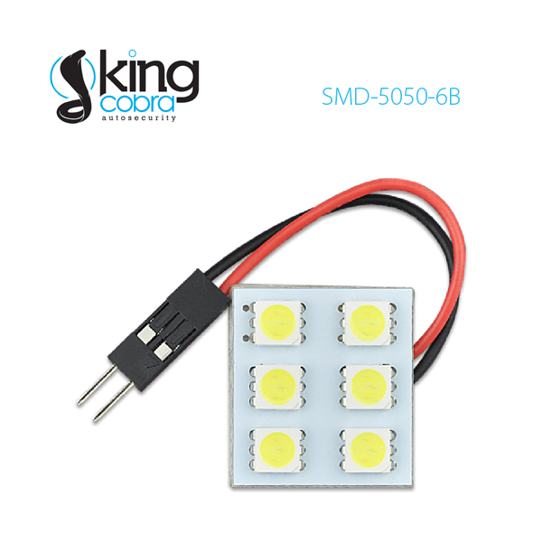 12V 6PCS SMD5050 Auto LED Dome Light Car Roof Light