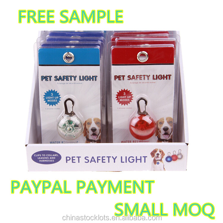 christmas gifts night small MOQ pet care free samples dogs puppies pet safety light