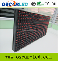 Alibaba express semi outdoor/indoor/outdoor p10 single red color led display module