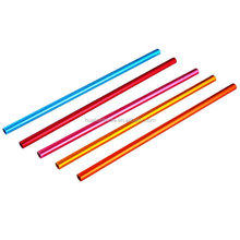 wholesale reusable metal drinking straws for tumbler and mason jar,colorful aluminum straw custom color