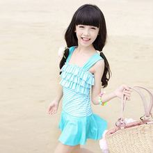MOON BUNNY 2016 New children's swimsuit female Siamese cover belly skirt type swimsuit cute princess big virgin student Sunscree