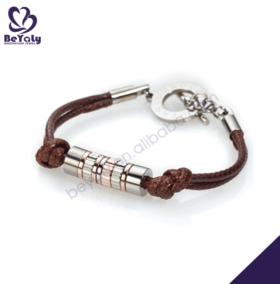 Fashion cheap ladies logo custom cord bracelet