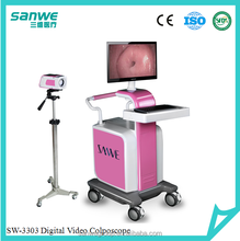 SW-3303 Trolly Type Digital Video Coloscope, Video Coposcope, Electronic Colposcope with Software