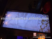 White onyx with lighting