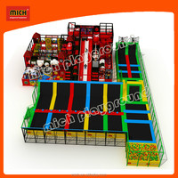 Popular Games Indoor Trampoline Bed & Soft Playground Combined Customize Indoor Playground Park for Amusement