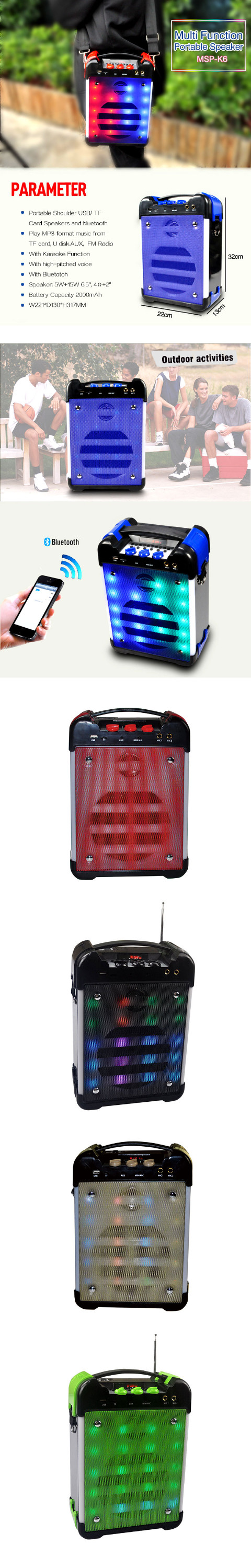 Popular wireless loud portable speakers home karaoke speakers portable speakers with subwoofer