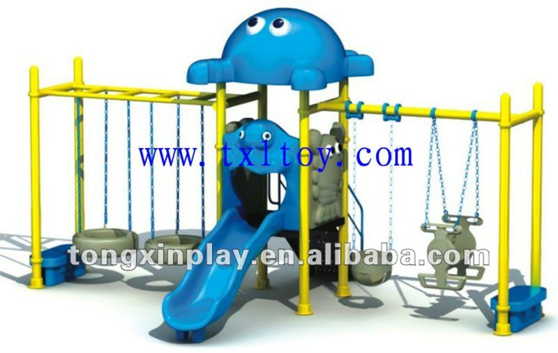 swing set TX-150G / combined children swing with slide