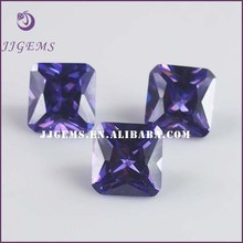 lab created amethyst cz stone / square zircon amethyst wholesale