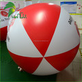 High Quality Big PVC Material Red White Inflatable beach Ball , Giant LED Beach Ball For Sale