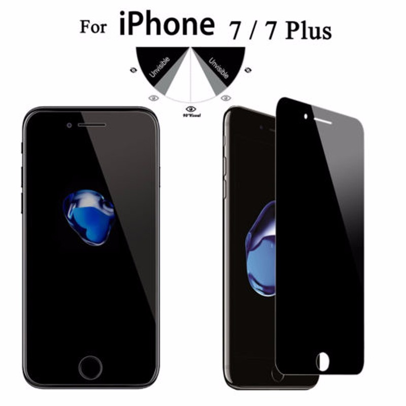 Shenzhen factory wholesale anti-spy privacy tempered glass screen protector for Iphone77plus