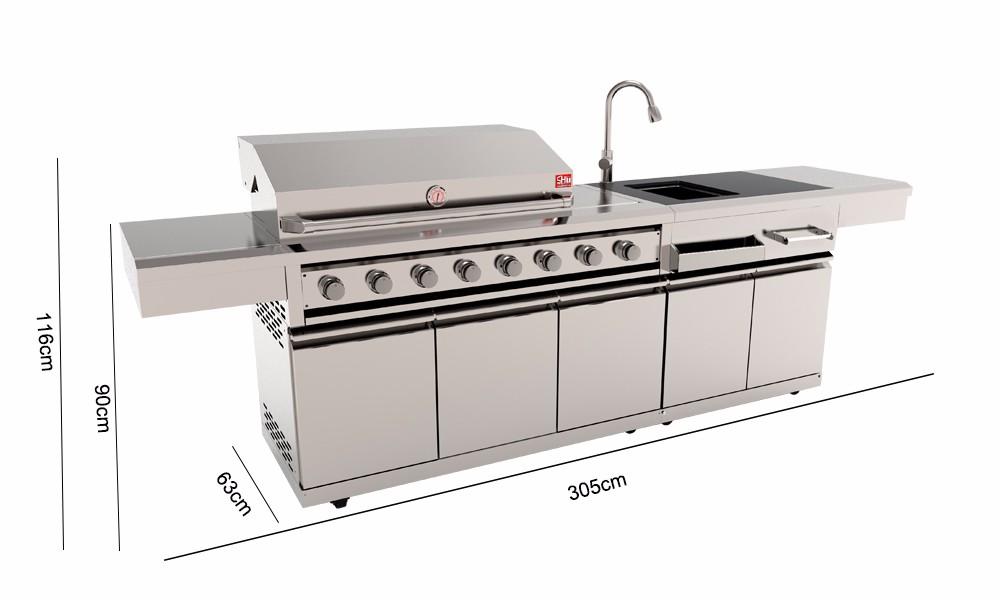 European kitchen decorative outdoor stainless steel bbq grill ...