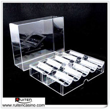 200ct High Clear Acrylic Poker Chip Case Poker Chip Tray Chip Rack With Cover