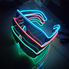 Customized led party electroluminescent flashing el wire party sunglasses