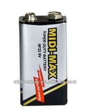 non-recharge 9V carbon zinc dry battery 1/S oem battery