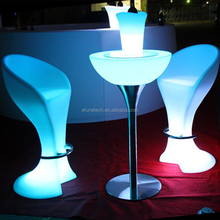 rechargeable bar and pub high top table illuminated led color bar furniture