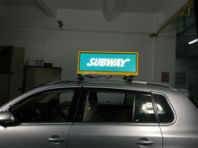 P5 Taxi Roof LED Display / Outdoor LED Video Screen 960mmx320mm with 3G, WLAN, USB, GPS