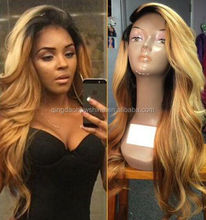 top fashion best quality stock brazilian hair full lace wig freestyle part
