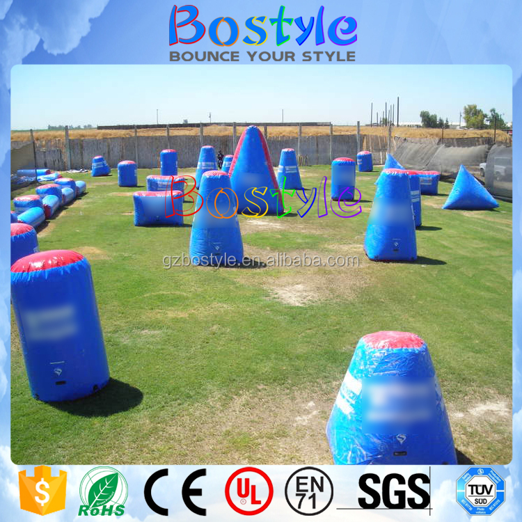 Outside sport games amazing inflatable paintball bunker gun equipment