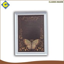 Black background butterfly designs rectangular school stationery soft writing board