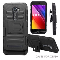 Wholesale factory supply 3 in 1 transformer super combo black mobile phone case for ASUS ZE500