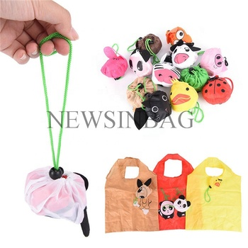 Promotional eco reusable fashion polyester folding shopping bag