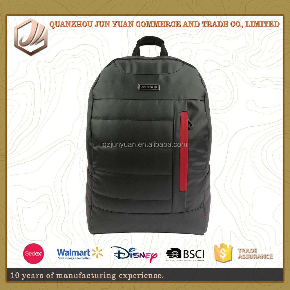 The popular waterproof business branded fashion black laptop backpack bag