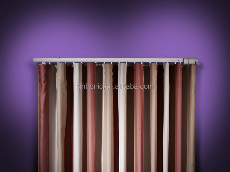 Bintronic motorized curtain drapery hardware motorized ripple fold drapery