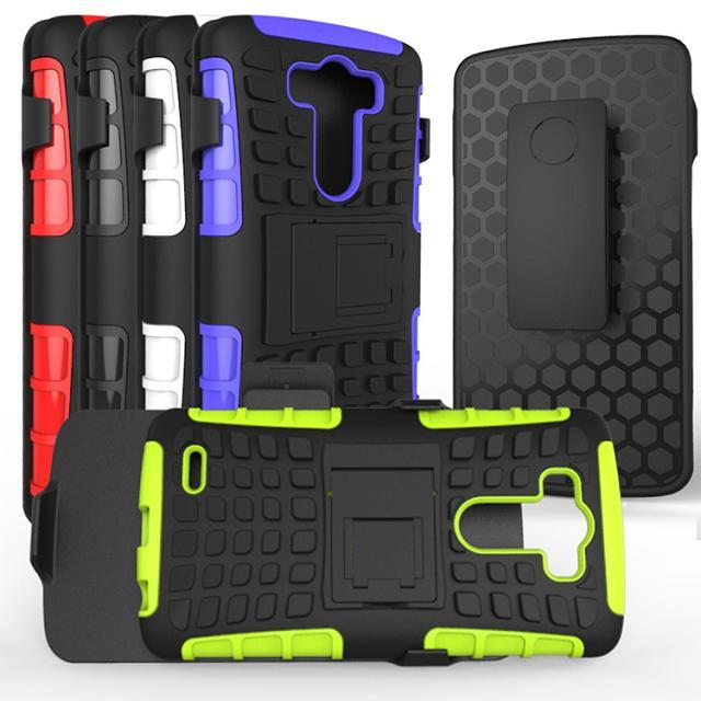 Belt clip stand hybrid heavy duty combo case for lg g3