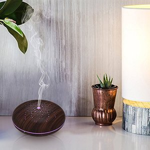 Smart Aroma Essential Oil Diffuser Humidifier Works with Alexa, Smart Phone Tablets APP Control,400ml Cool Mist Humidifier