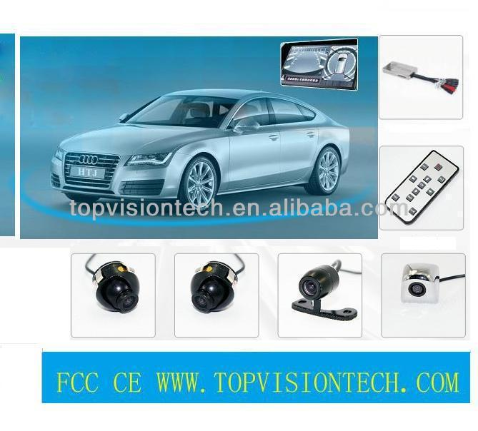 360 degree car security camera,full view car driving camera car driving monitor system