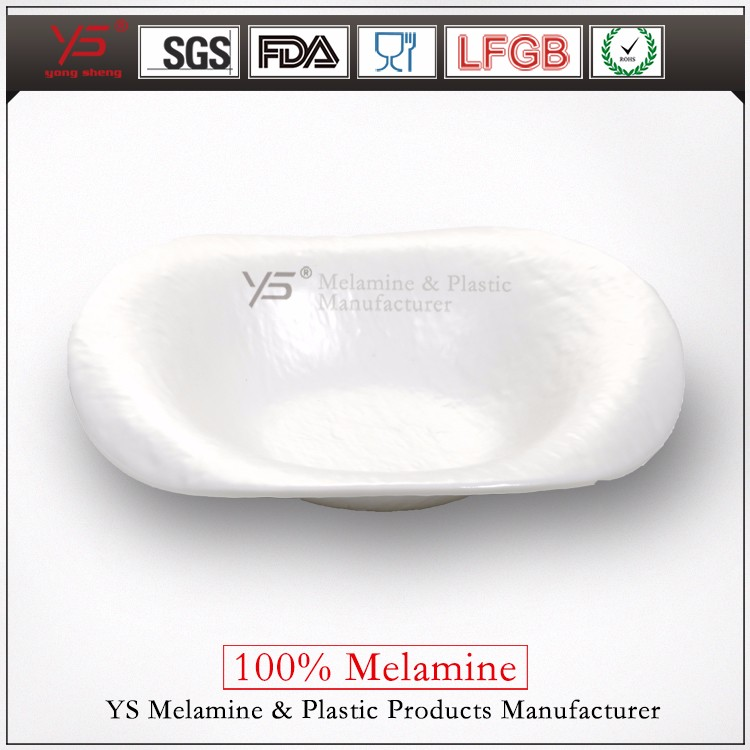 High temperature disinfection 100% melamine tapas serving dishes