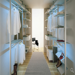 italian design bedroom furniture, poles systems wall in closet