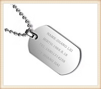 Best price China supplier wholesale stainless steel custom military dog tags