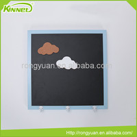 High quality hanging wall decoration 3 hooks mdf board back menu blackboard