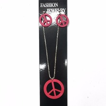 Wholesale Custom Chain Necklace Jewelry Plastic Pendant Necklace+Earrings Set
