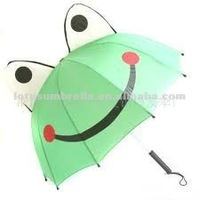 18 Inch Straight Frog Carton Kids/children Umbrella with Auto Open