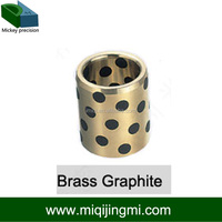 Oilless Guide Bushing Graphite Filled Factory Brass Graphite Oil Free Bushing