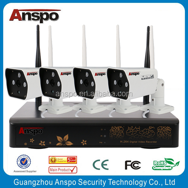 hot selling 4CH 1.3MP Anspo WiFi Network Mini Rotatable Smart Security system 27x optical zoom ip camera kit wifi nvr kit