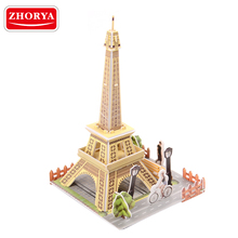 3D puzzled Eiffel Tower BIG BEN The Great Wall world famous building model
