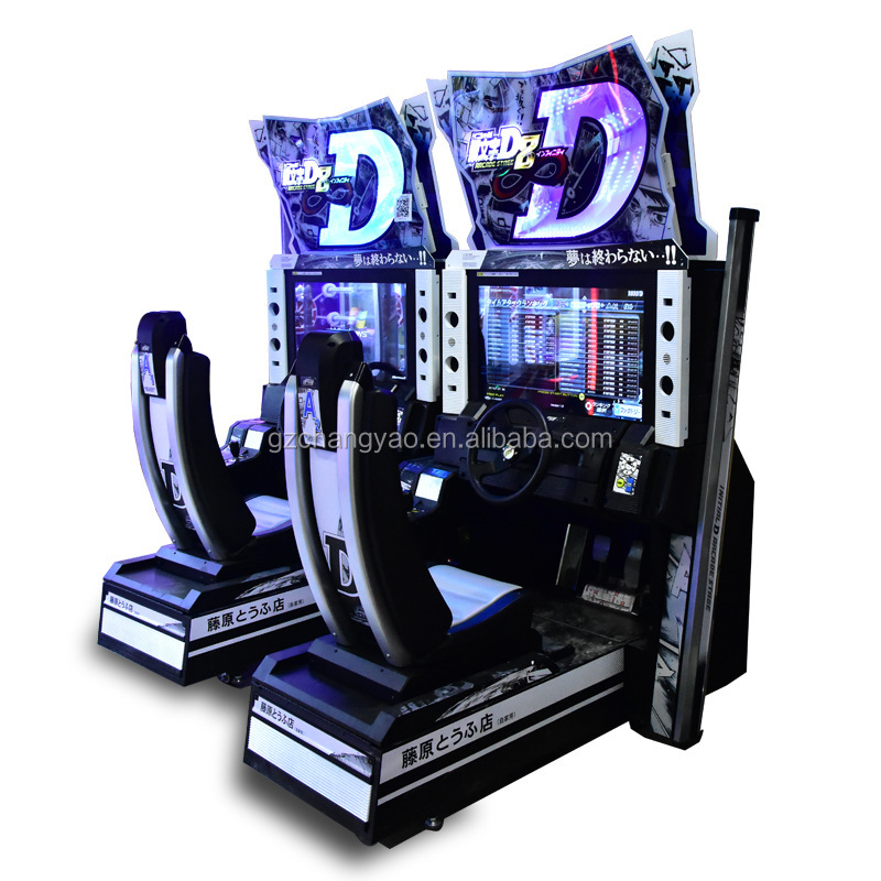 Wholesale Initial D 8 Commercial Cheap Coin Operated Arcade Car Racing Simulator Electric Game Machine for Sale