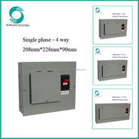 XEM Single phase 4 way electrical power distribution box distribution board