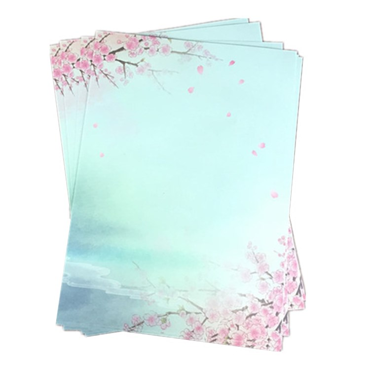 Chinese superior quality fashion style cheap custom gift school letter paper