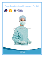 Hot Sale Sterile Patient Disposable surgical cloth , SMS hospital medical gown , Disposable operating gown