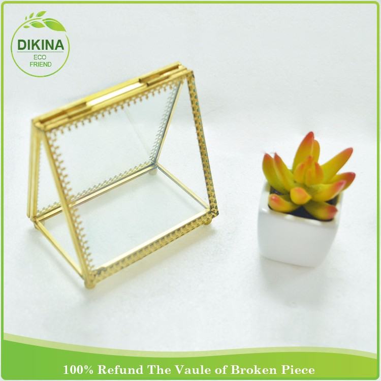 Short Double Sided Rectangle Glass Frame Pendant Hinged/ frosted glass photo frame & frosted photo picture frame glass wholesale