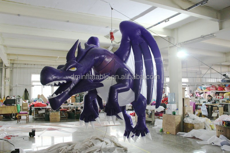 customized new style giant inflatable blue dragon for decoration