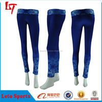 Custom made blue yoga pants wholesale/Custom fitness wear